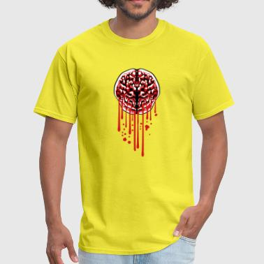drop graffiti wet brain bloody horror halloween th - Men's T-Shirt