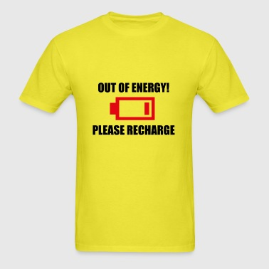 out of energy (with symbol) - Men's T-Shirt