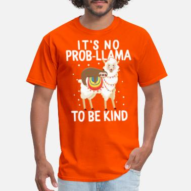 Bullying Unity Day Anti Bullying It's No Probllama To Be - Men's T-Shirt