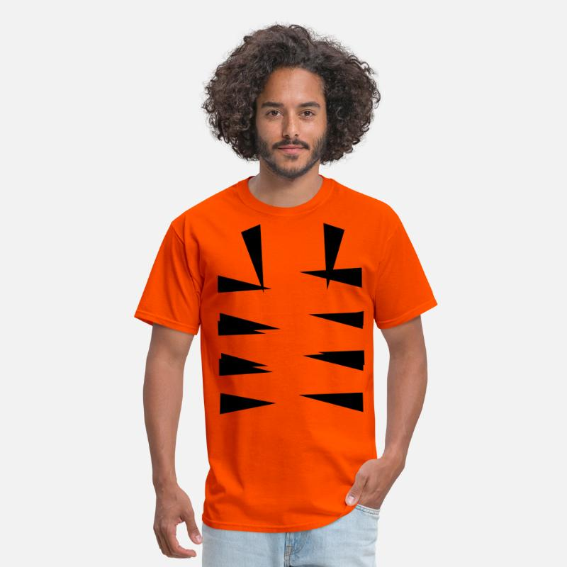 Halloween T-Shirts - tiger stripes bottom - Men's T-Shirt orange