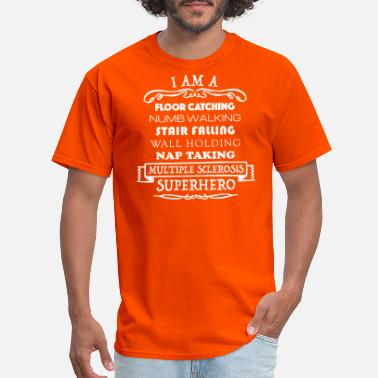 cd9973d4e Men's T-Shirt. MULTIPLE SCLEROSIS Awareness butterfly. from $22.49 · I Am A  MS Superhero - Men's ...