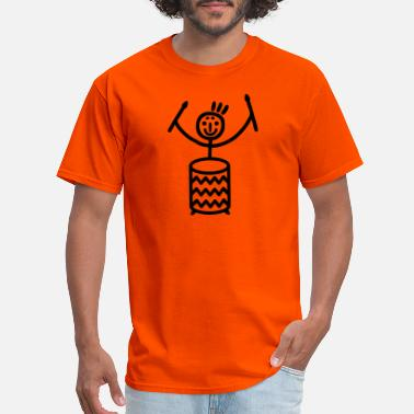 Samba Stick figure with Samba drum - Men's T-Shirt