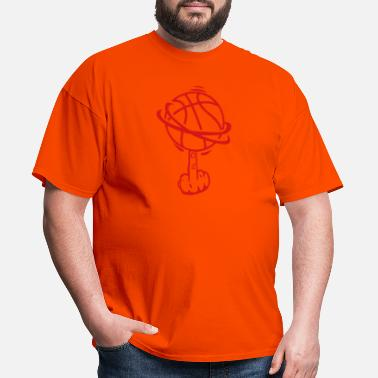 Fuck Basketball basketball finger fuck finger rotates - Men's T-Shirt