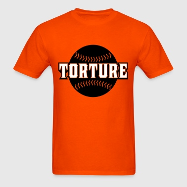 whitetorturebaseball1 - Men's T-Shirt
