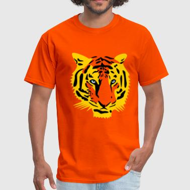 tiger head half - 3 color - Men's T-Shirt