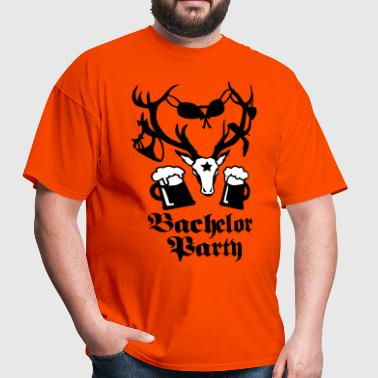11 deer bachelor party fun funny love stag night - Men's T-Shirt
