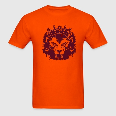 The lion's head with crown - Men's T-Shirt