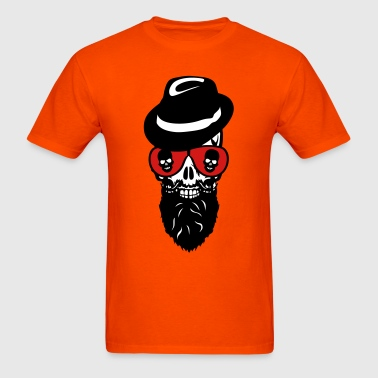 Death head skull cap hat beard beard 8 - Men's T-Shirt