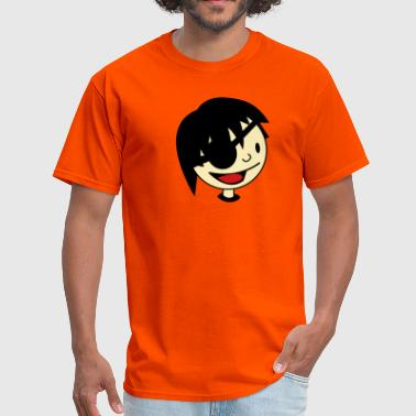 childs pirate face with eye patch and happy - Men's T-Shirt