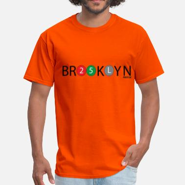 Brooklyn Design Brooklyn Design Black Text - Men's T-Shirt