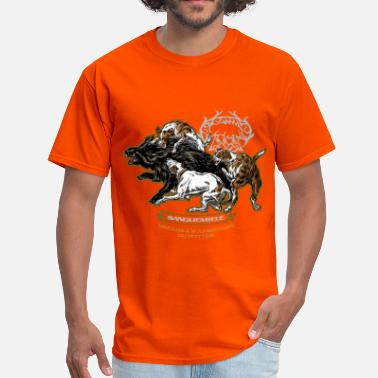 Hog Hunting wild_boar_and_hounds - Men's T-Shirt