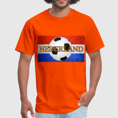 Dutch / Netherlands / Nederlands Soccer Ball Flag - Men's T-Shirt