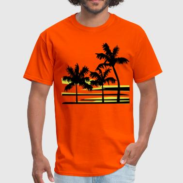 Surfer Palm Trees Surfer Caribbean Hawaii - Men's T-Shirt