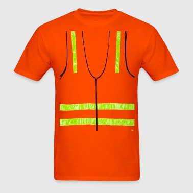 REFLECTIVE VEST SAFETY HALLOWEEN COSTUME SECURITY - Men's T-Shirt