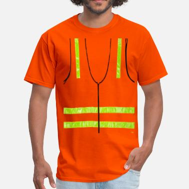 Safety Vest REFLECTIVE VEST SAFETY HALLOWEEN COSTUME SECURITY - Men's T-Shirt