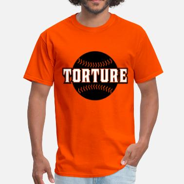 Torture whitetorturebaseball1 - Men's T-Shirt