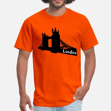 Bridge Vector London txt  Tower Bridge  - Men's T-Shirt