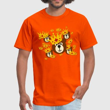 smiling bear with crown - Men's T-Shirt