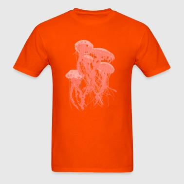 Jellyfish - Orange - Men's T-Shirt