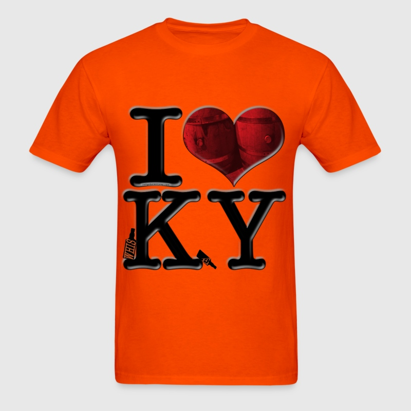I Love KY - whisKeY (for light-colored apparel) - Men's T-Shirt