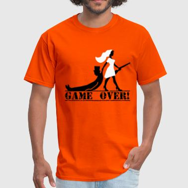 Bride And Groom Game Over game over bride and groom - Men's T-Shirt