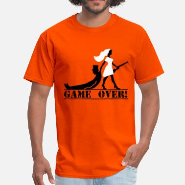 Groom Game Over game over bride and groom - Men's T-Shirt