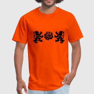 Stylized Rose Rose - Men's T-Shirt