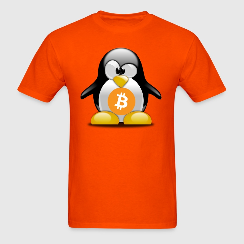 Tux Bitcoin - Men's T-Shirt