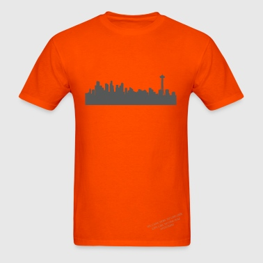 Seattle Skyline - Men's T-Shirt