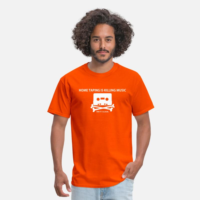 Cassette T-Shirts - Piracy: Home taping is killing music - Men's T-Shirt orange