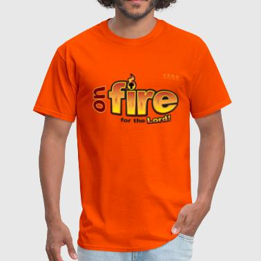 On Fire for the Lord 2 red - Men's T-Shirt