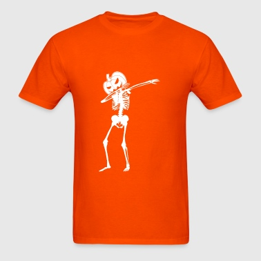 Dabbin Pumpkin Skeleton - Men's T-Shirt