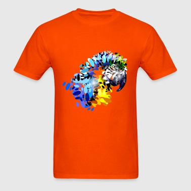 colorful illustration parrot head - Men's T-Shirt