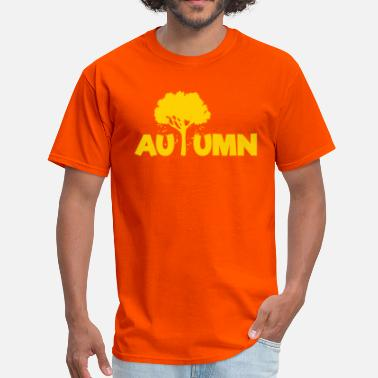 Autumn Logo AUTUMN (Tree Leaves Falling) Art - Men's T-Shirt