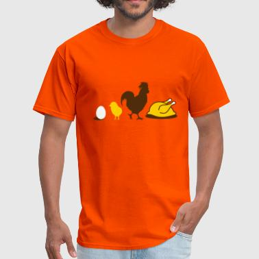Chicken Evolution Egg,chick, rooster and chicken- poultry Evolution- - Men's T-Shirt