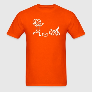 Nosework Stick Figures - Men's T-Shirt