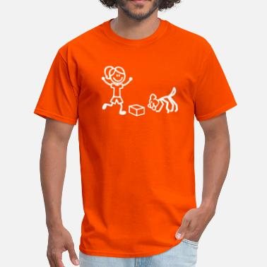 Scent Nosework Stick Figures - Men's T-Shirt
