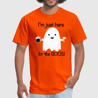 Halloween Boo Here for the Boos Halloween Ghost - Men's T-Shirt