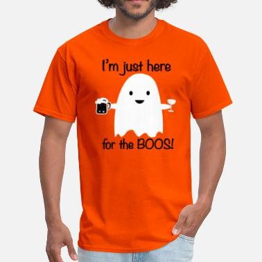 Booze Here for the Boos Halloween Ghost - Men's T-Shirt