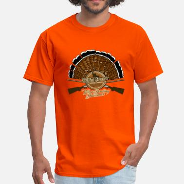 Grouse ruffed_grouse_wing_beating - Men's T-Shirt