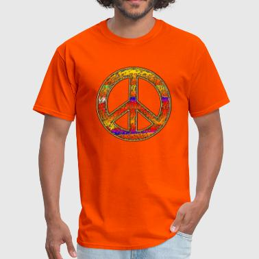 Ringo Rainbow Hippy Peace Sign - Men's T-Shirt