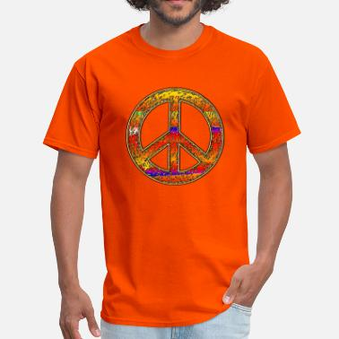 Ringo Starr Rainbow Hippy Peace Sign - Men's T-Shirt