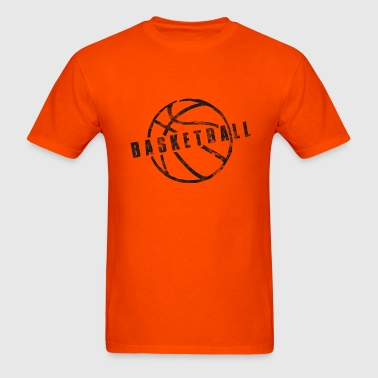 Basketball Slogan Used Look Retro - Men's T-Shirt