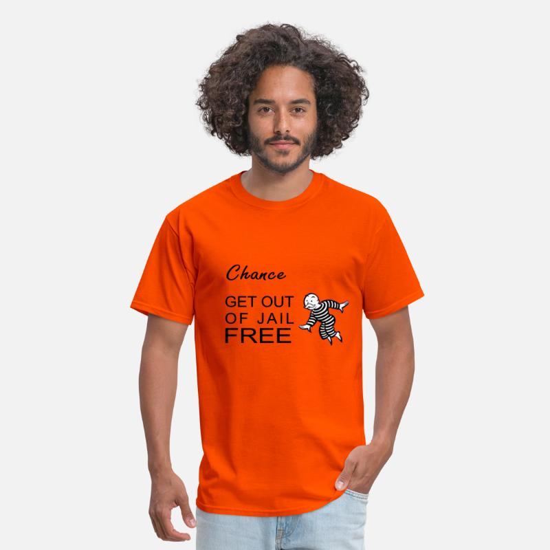 Arrest T-Shirts - GET OUT OF JAIL CARD - Men's T-Shirt orange