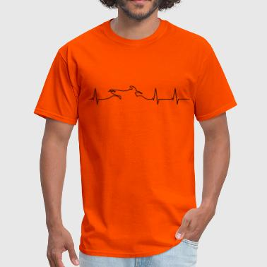 Heart Rate Motorcycle Enduro heartbeat  - Men's T-Shirt