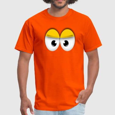 Angry Eyes Cute Yellow Angry Eyes - Men's T-Shirt