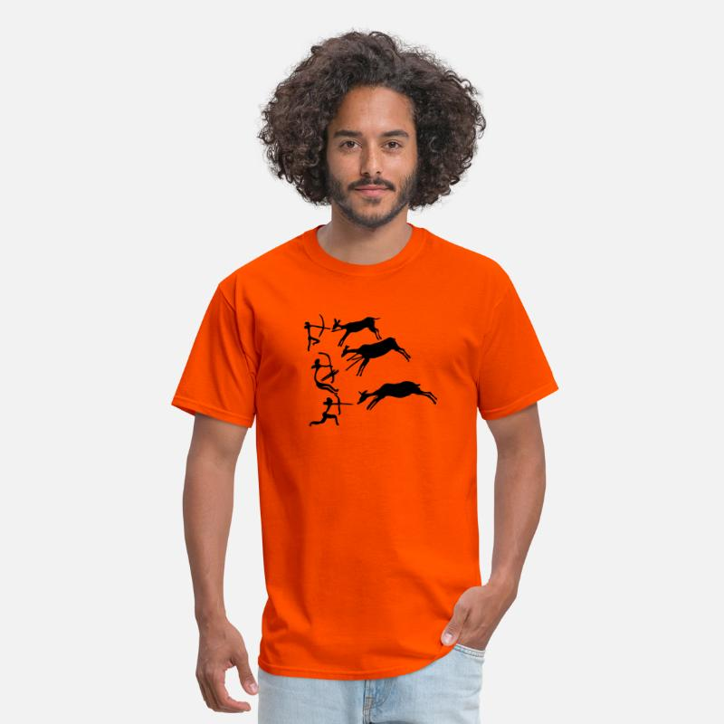 Art T-Shirts - Lascaux Cave Painting - Men's T-Shirt orange