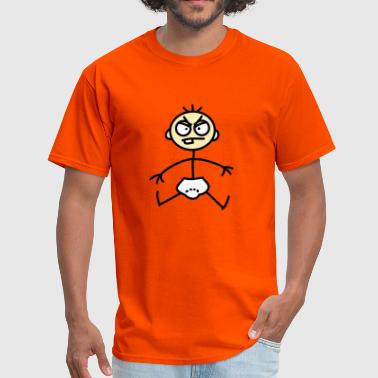 Mad Child angry_baby_stick_figure_3c - Men's T-Shirt