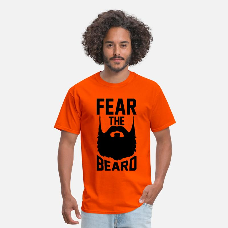 Beard T-Shirts - Fear The Beard - Men's T-Shirt orange