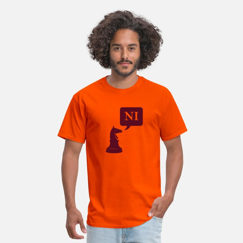 Chess T-Shirts - The Knights Who Says Ni - Men's T-Shirt orange